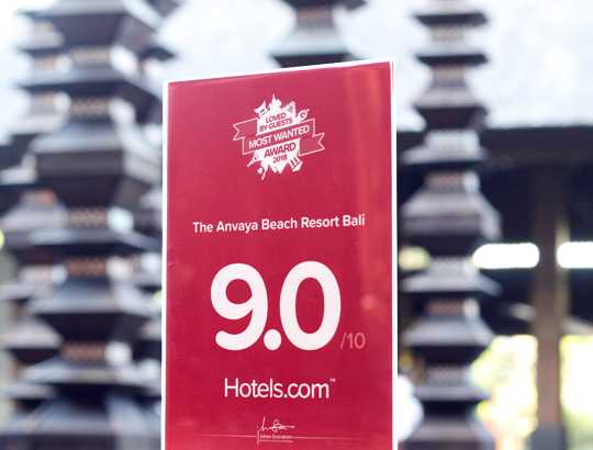 Hotels Com Loved By Guests Honoured To The Anvaya Beach Resort